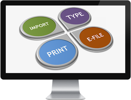 1099 Full Cycle Includes Typing, Import, Print and E-File